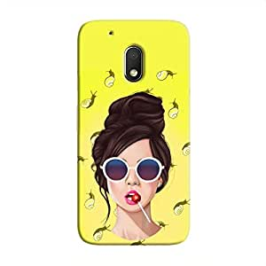 Cover It Up Glasses Lollipop Hard Case For Moto G4 Play