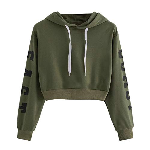 Ash Zippered Sweatshirt - Newest Girls Short Pullover,Sunyastor Letters Long Sleeve Hoodie Sweatshirt Loose Casual Hoodied Pullover SweaterTops Blouse Army Green