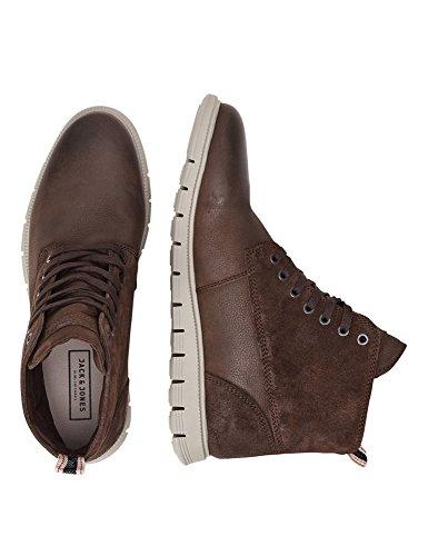 Jack & Jones Men's Men's Leather Brown Boots 100% Leather Java NUFOBvqs
