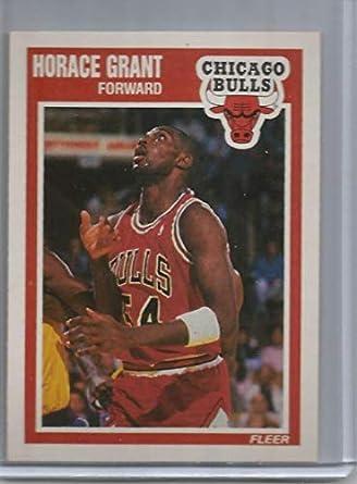 7f5e697e781 1989-90 Fleer Basketball Card  20 Horace Grant Chicago Bulls Official NBA  Basketball Cards