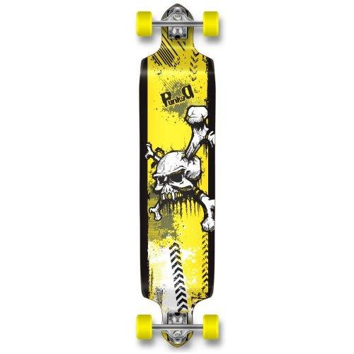 Yocaher Professional Speed Drop Down Complete Longboard Skateboard (Yskull)