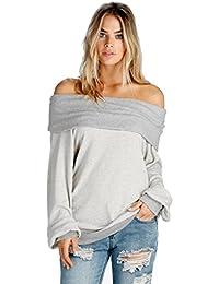 Women's Fleece Wide Off Shoulder Sweatshirt