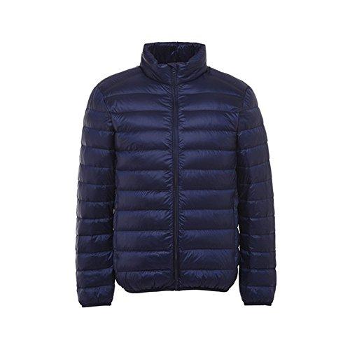 Men's Down Short Weight XICHENGHSHIDAI Jacket Navy Light Blue Fwq1n6