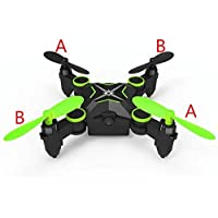 Heliway 901HS Mini Foldable Pocket Drone Quadcopter WiFi, Live HD Camera, 2.4GHz 6CH 6-axis Gyro, Altitude Hold (Green)