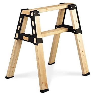 2x4basics 90196 Black ProBrackets Sawhorse, Pack of 2