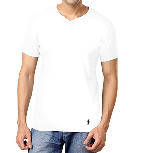 Polo Ralph Lauren Slim Fit V-Neck Undershirts 3-Pack White Medium