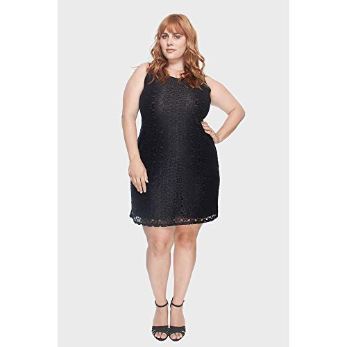 Vestido Com Renda Plus Size Preto-50