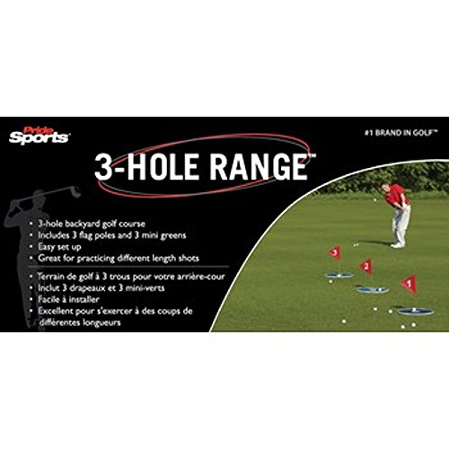 New Pride Golf 3-Hole Range Green/Red Swing Trainers Anal...
