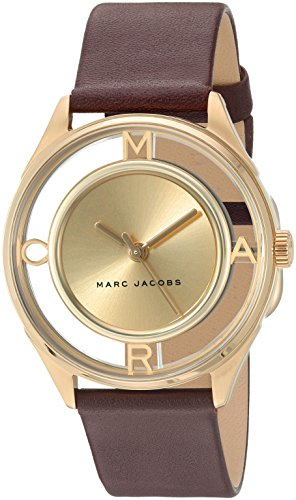 Marc Jacobs Women's Tether Burgundy Leather Watch - MJ1459