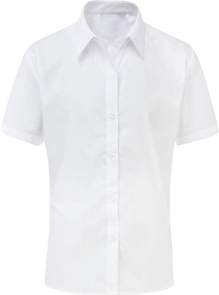 Only Global Girls Short Sleeve Blouse Shirt Twin Pack School Uniform White Sky Blue ***UK