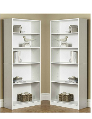 Amazon.com: Mainstay` Pack Of 2 Orion Wide 5-Shelf