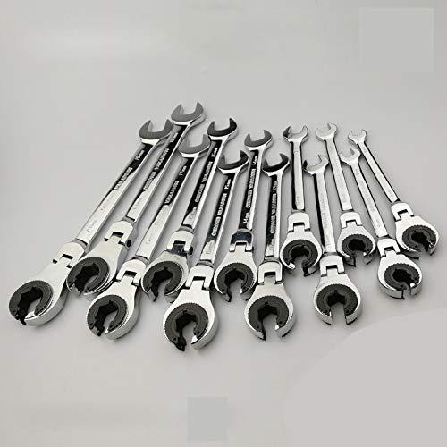 GJTOOL Chiave a tubo flessibile per chiavi a cricchetto Chiave per ingranaggi a tubo flessibile per chiavi di riparazione olio per auto Chiave 9mm 1 pezzo