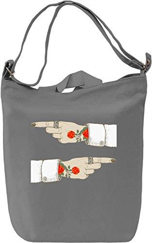 Tattoo Borsa Giornaliera Canvas Canvas Day Bag| 100% Premium Cotton Canvas| DTG Printing|