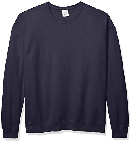 Hanes Men's ComfortWash Garment Dyed Fleece Sweatshirt, Anchor Slate Large ()