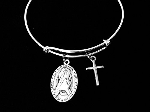 Merciful Like the Father Jubilee of Mercy Pope Francis Expandable Charm (Mercy Charm)