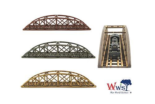 War World Scenics Single Track N-Gauge MDF Bowstring Bridge 200mm (Choose  Colour) - Railway Modelling Scale Railroad Model Diorama Rail Layout