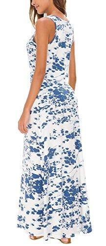 Réservoir Sans Manches Imprimé Floral Urbain Femmes Coco Robe Maxi Top # 2