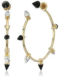 Noir Jewelry Martine Hoop Earrings