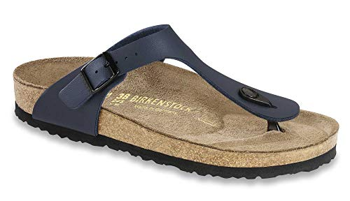 Birkenstock Womens Gizeh Blue Birko-Flor Sandals 37 EU (America's 100 Best College Buys)