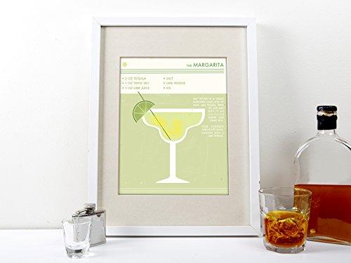 Retro margarita cocktail print