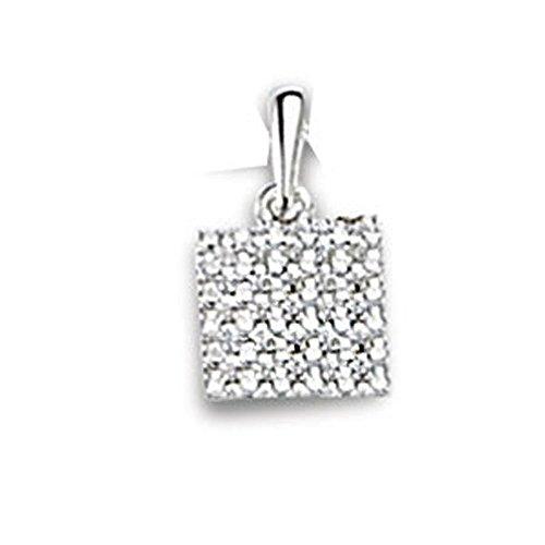 SF Bijoux - Pendentif or gris 750/1000e et diamant (0,11 carat)