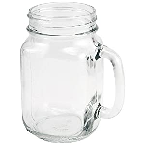 Libbey Drinking Jar with Handle, 16.5 -Ounce, Set of 24