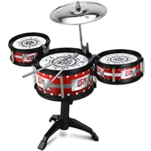 Small Mini Rock Drum Set Kids Junior Beginner Kit Music Jazz Set Toy Musical Instrument Toy Playset For Kids Early Education Puzzle 2-6 years old