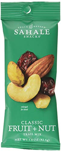 Sahale Snacks Classic Fruit and Nut Mix, 1.5 oz., Pack of 9 - Convenient Grab 'n Go Pack, Nut Snacks with No Artificial Flavors, Preservatives or Colors, Gluten-Free -
