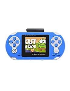 "JXD NEW 8-16Bit Retro 2.5"" Video Games Portable Handheld Console Built-in ACT/FTG/SPG/STG/RAC/Puzzle Games Retro PVP PVE FC/SFC Games Console (GM01028BlueUS)"