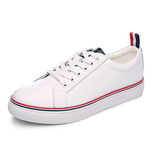 Blanco zapatos de las mujeres/zapatos casuales/Zapatos del deporte/Versión estudiante Coreano de zapatos flat-bottom/poco blanco zapatos en otoño A