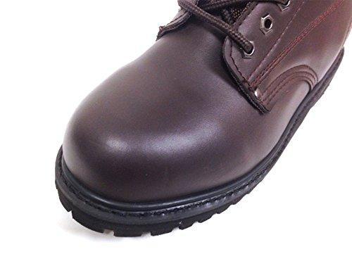 S6b22s Mens Arbete Stövlar Brunt Läder 6 Klacksula Oljeresistenta Skor Bredd: Bred (w Eller 2e) Brun