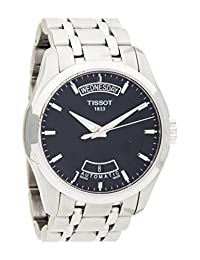 Tissot Men's Couturier T035.407.11.051.00 Silver Stainless-Steel Swiss Automatic Watch with Black Dial
