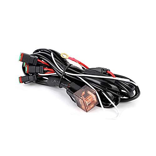 Qii lu LED Light Control Switch Wiring Harness Kit Waterproof Spotlight Switch Wiring Harness Line 1V4: