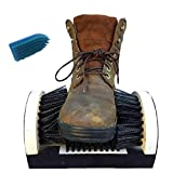 Shoe Boot Cleaning Brush - Floor Mount Scraper - Commercial Grade With Permanent Mounting Hardware For Indoor / Outdoor Use plus Scrub Brush with Handle.