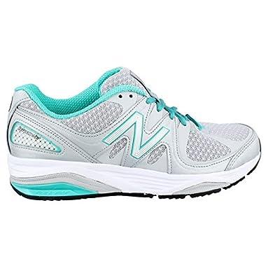 d23789ee954a8 New Balance Women's W1540V2 Running Shoe, Silver/Green, ...
