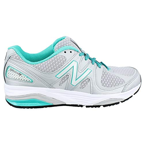 New Balance Women's W1540V2 Running Shoe, Silver/Green, 11 D US ()