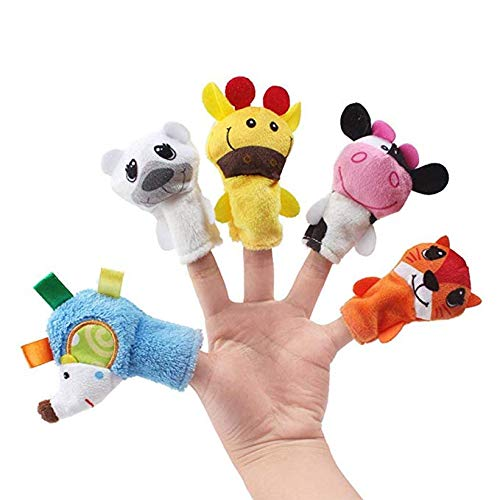 - Wanj Cartoon Animal Finger Puppet, Children Educational Dolls Toys, Finger Puppets (Bed Time Story Telling for Kids/Babies/Children/Toddler) 5 Pcs