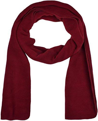Unisex Fleece Scarf (Unisex Wine Red Scarf Polar Fleece Warm Scarves for Winter Outdoor Scarf)