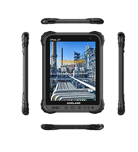 DORLAND XPad-07 Industrial Explosion-Proof PAD, Intrinsically Safe for Oil & Gas Industry and Hazardous Areas, IP67,Waterproof Dustproof Shockproof Tablet,4G Android 8.1 GPS Navigation (Intrinsically Safe Explosion Proof)