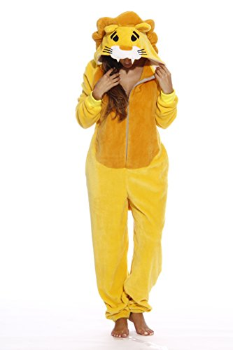 Just Love L6404-M-Lion #FOLLOWME Adult Onesie/Adult Pajamas -