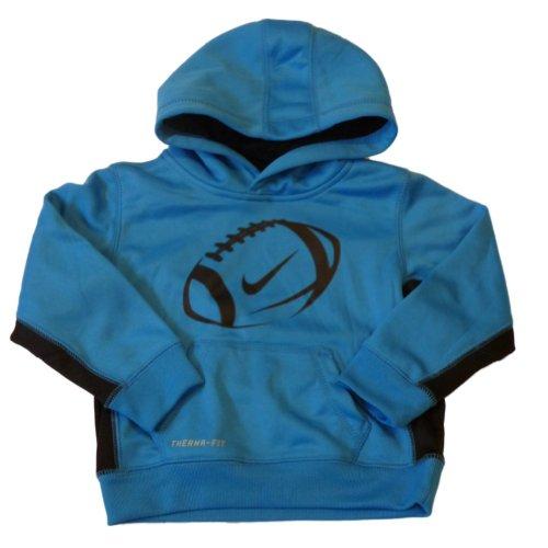 Nike Football Toddler Boys Blue Therma-Fit Hoodie Sweatshirt