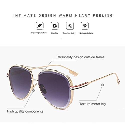 Hombre Gafas UV De Brass De Sol para De De Moda Gafas Gafas Metal Chrome Sol Trend 7ZIR8qX
