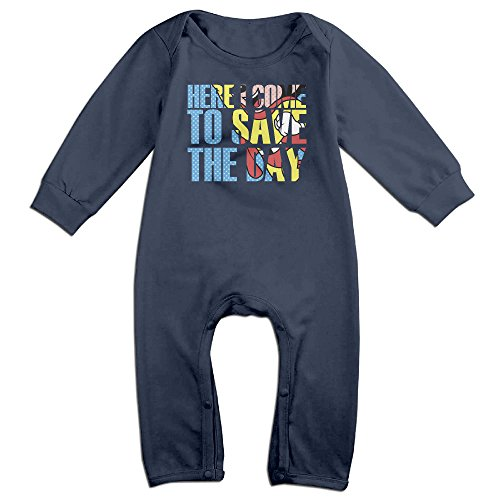 Mighty Mouse Cartoon Baby Onesie Bodysuit Toddler Romper Navy 18 Months
