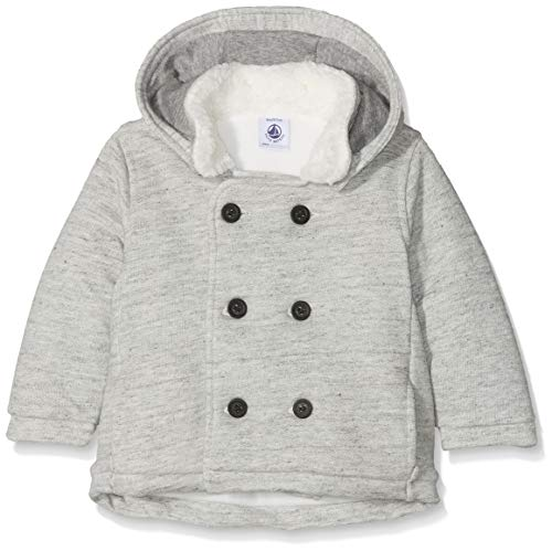 Petit Bateau Grey Babys' Cotton Peacoat with Fleece (18 Month)