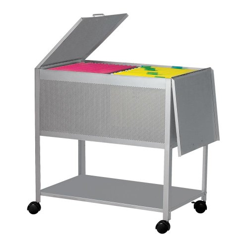 Dainolite HFC-600-SV Hanging File Cart on Casters Hinged Top, 28-Inch, Silver by Dainolite
