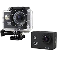 Boyiya Mini 1080P Full HD DV Sports Recorder Car Waterproof 170°Wide Angle Action Camera Camcorder (Black)