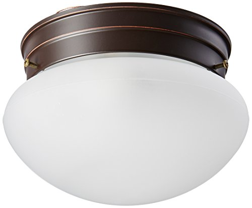 Nuvo Lighting 60/2641 Single Light Small Mushroom Flush Mount Ceiling Fixture with Frosted Glass Shade - Mushroom Flush Mount Ceiling Fixture