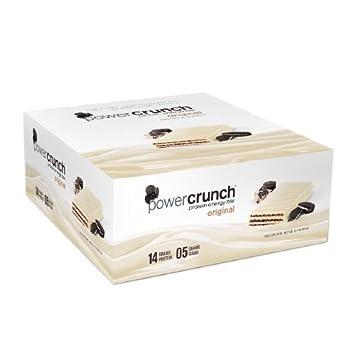 Power Crunch Original Energy Bar 12 Ct Cookies Cream, Pack of 2