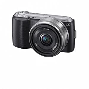 Sony Alpha NEX-C3 16 MP Compact Interchangeable Lens Digital Camera Kit with 16mm F2.8 Wide Angle Lens (Black)