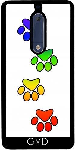 Funda de silicona para Nokia 5 - Pata Del Perro Imprime El Arco Iris by loki1982
